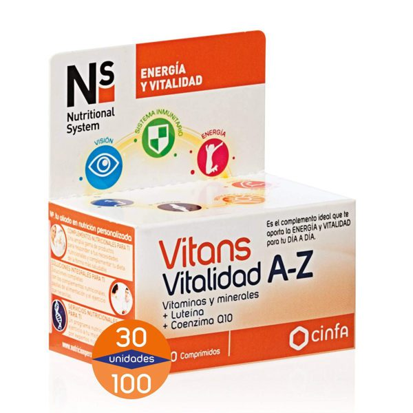NS | Vitans Vitalidad A-Z - Comprimidos (Varios Tamaños)