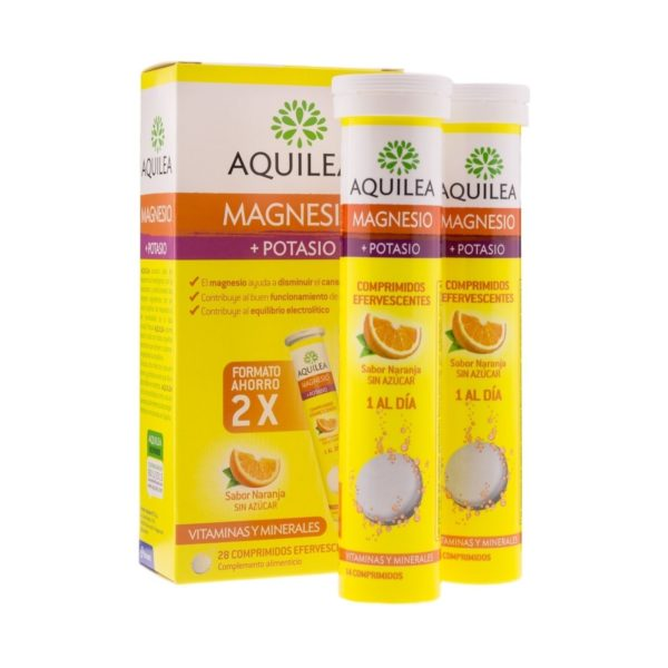Aquilea   Magnesio + Potasio (Sabor Naranja) - 28 Comp. Efervescentes