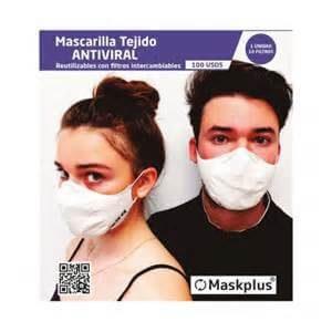 Mascarilla de Tela Reutilizable y Lavable MaskPlus con filtros de papel intecambiables by Farmateca Parafarmacia