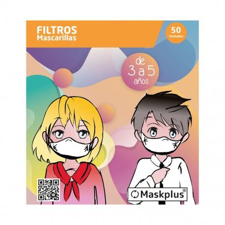 MaskPlus | Filtros para Mascarilla Niños - 50 uds.