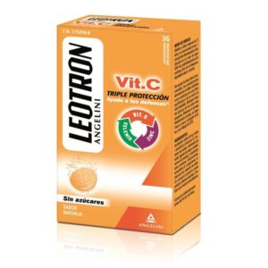 Leotron   Vitamina C (Sabor Naranja) - 36 Comprimidos Efervescentes